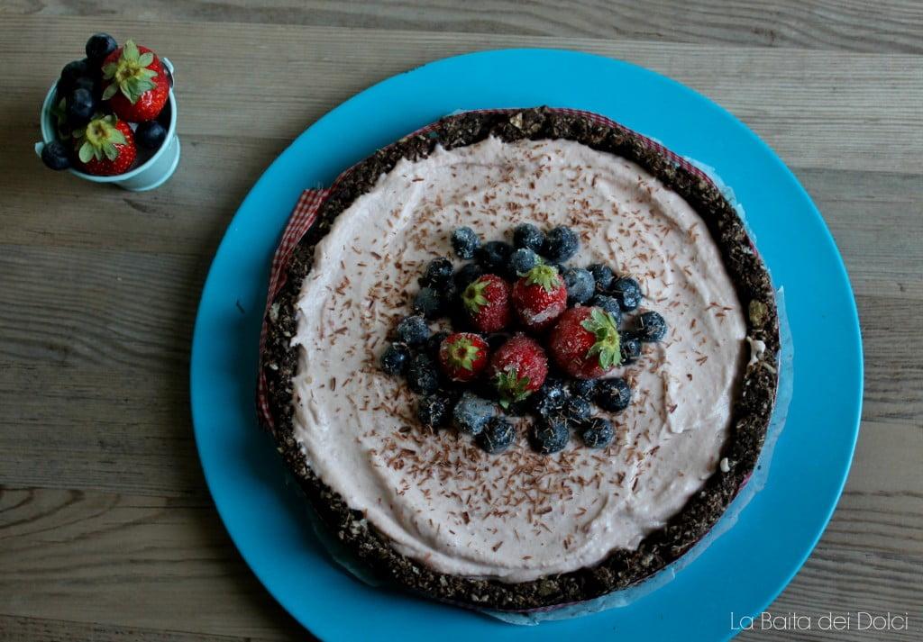 Cheesecake fragola con wafer