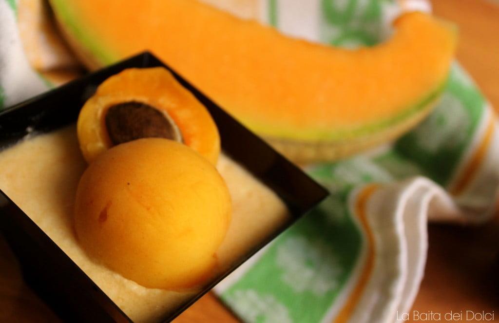 Semifreddo al melone e amaretto