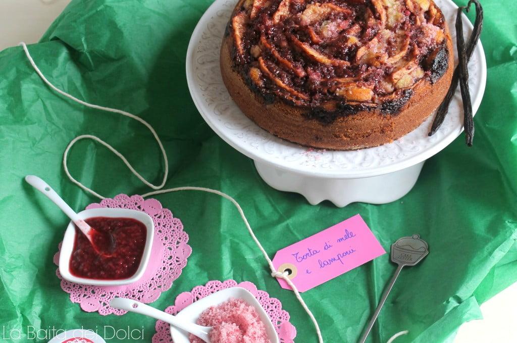 Torta mele e lamponi1