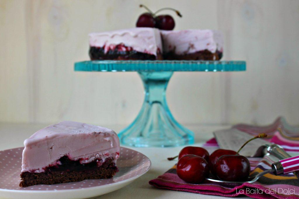 Torta gelato cioccolato e ciliegie 2