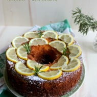 Chiffon Cake all'ananas e rosmarino