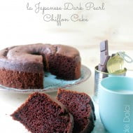 La Fluffosa giapponese, ovvero la Japanese Dark Pearl Chiffon Cake
