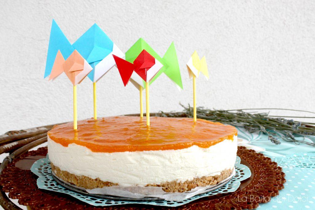 Cheesecake cioccolato bianco e pesche