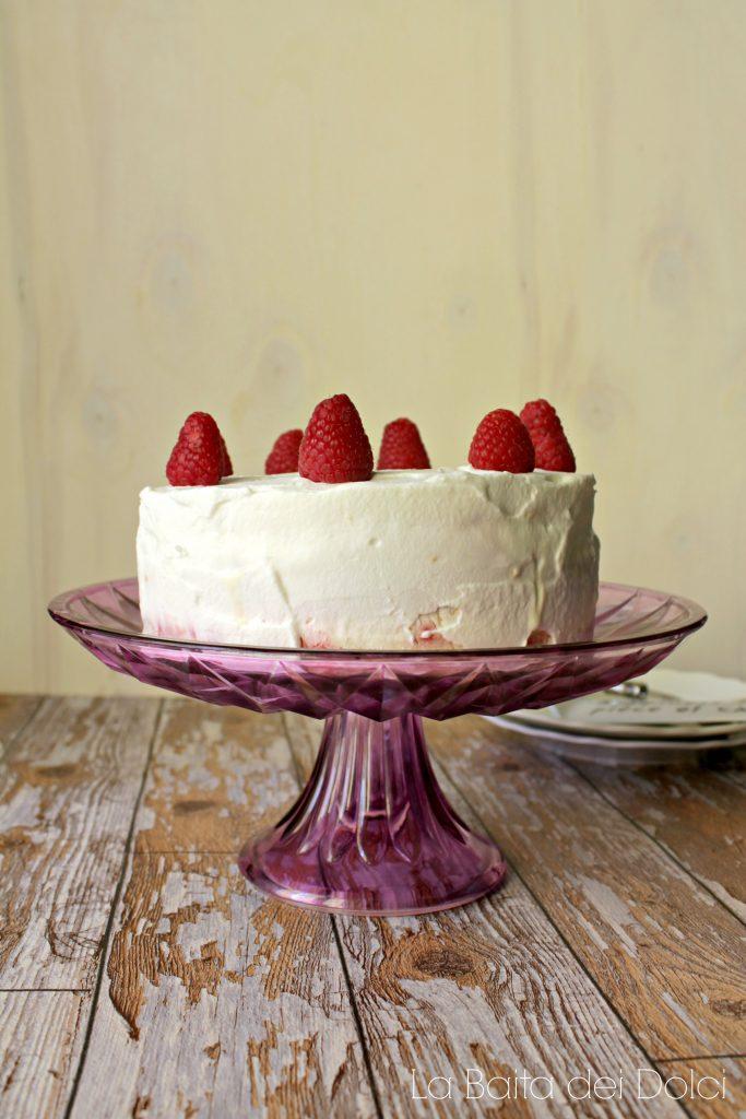 Torta gelato vaniglia e lampone