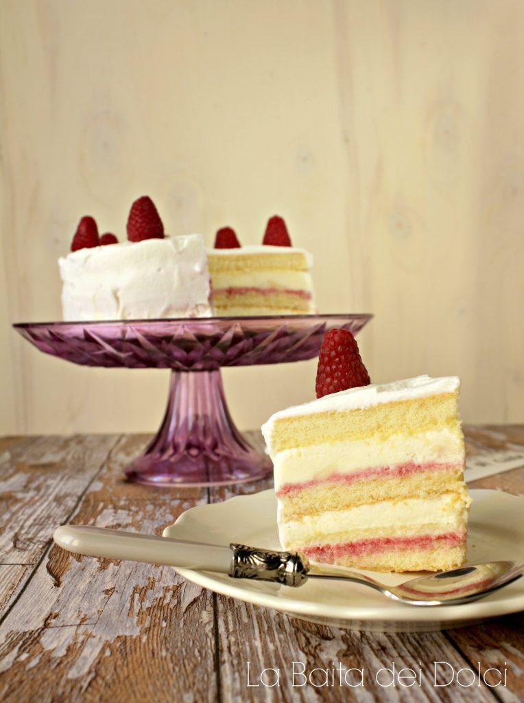 Torta gelato vaniglia lampone 3