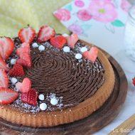 Crostata morbida al cocco e cioccolato